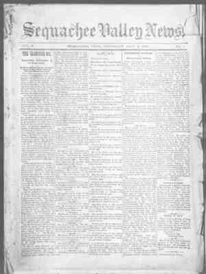 Sequachee Valley News Gazetesi 9 Temmuz 1896 kapağı