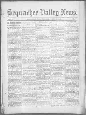 Sequachee Valley News Gazetesi 30 Temmuz 1896 kapağı