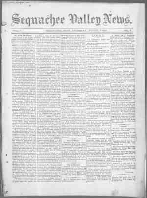 Sequachee Valley News Gazetesi 6 Ağustos 1896 kapağı