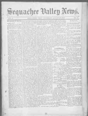 Sequachee Valley News Gazetesi 27 Ağustos 1896 kapağı