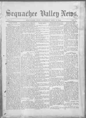 Sequachee Valley News Gazetesi 3 Eylül 1896 kapağı