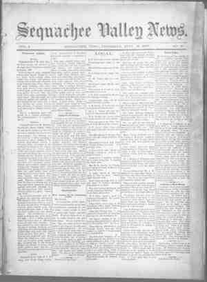 Sequachee Valley News Gazetesi 10 Eylül 1896 kapağı