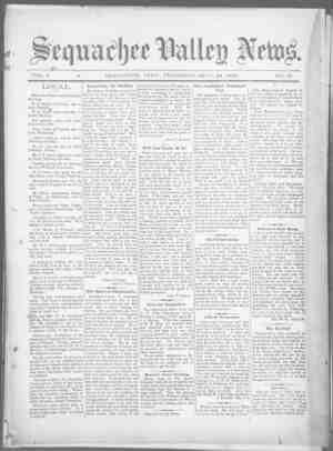 Sequachee Valley News Gazetesi 24 Eylül 1896 kapağı