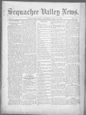 Sequachee Valley News Gazetesi 8 Ekim 1896 kapağı