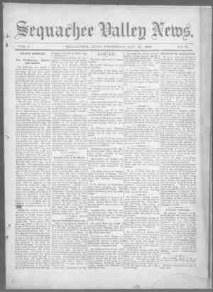 Sequachee Valley News Gazetesi 15 Ekim 1896 kapağı