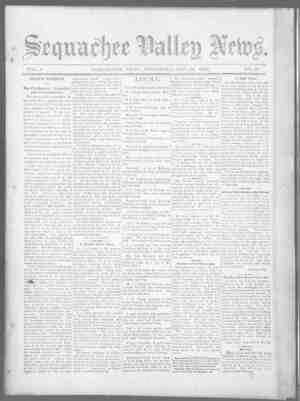Sequachee Valley News Gazetesi 22 Ekim 1896 kapağı
