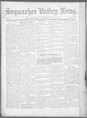 Sequachee Valley News Gazetesi 29 Ekim 1896 kapağı