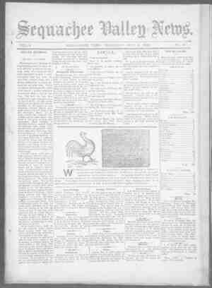 Sequachee Valley News Gazetesi 5 Kasım 1896 kapağı