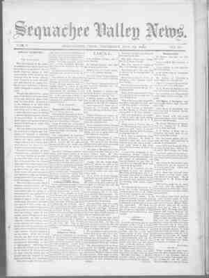 Sequachee Valley News Gazetesi 19 Kasım 1896 kapağı