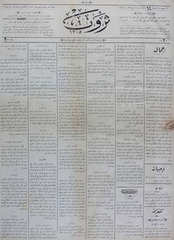 Servet Gazetesi 9 Aralık 1890 kapağı