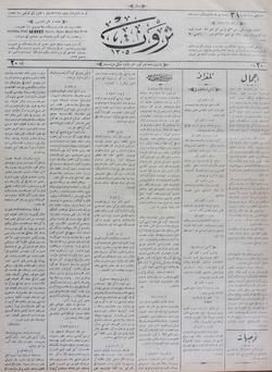 Servet Gazetesi 6 Ocak 1891 kapağı