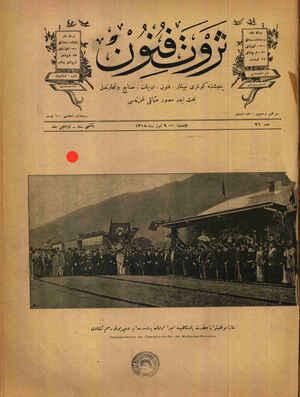 Sayeyi muvaffakiyet ve iya-i padişahide icra olunan Bursa Mudanya demir yolu resmi küşadı