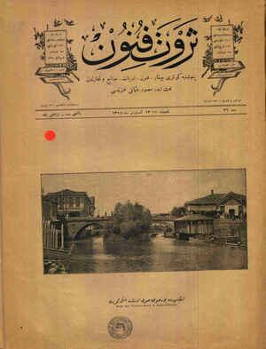 Eskişehir'de Porsuk suyu üstünde eski köprü