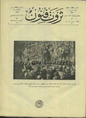 Servet-i Fünun Dergisi 13 Eylül 1928 kapağı