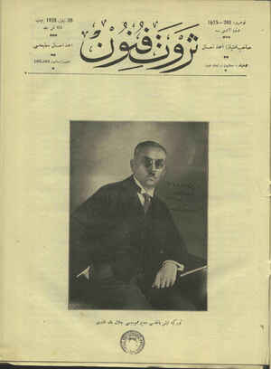 Servet-i Fünun Dergisi 20 Eylül 1928 kapağı