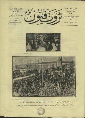 Servet-i Fünun Dergisi 27 Eylül 1928 kapağı