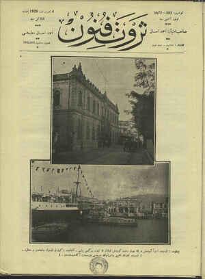 Servet-i Fünun Dergisi 4 Ekim 1928 kapağı