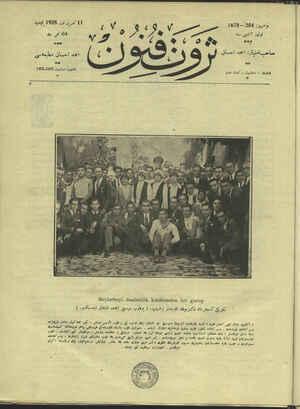 Servet-i Fünun Dergisi 11 Ekim 1928 kapağı