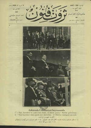 Servet-i Fünun Dergisi 8 Kasım 1928 kapağı