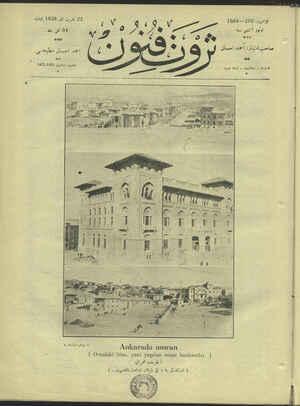 Servet-i Fünun Dergisi 22 Kasım 1928 kapağı