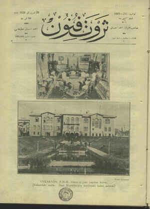 Servet-i Fünun Dergisi 29 Kasım 1928 kapağı