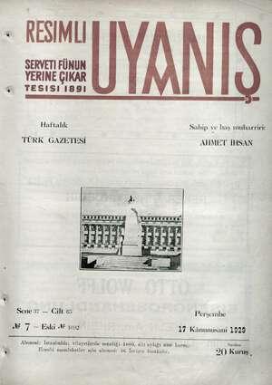 Servetifunun (Uyanış) Dergisi 17 Ocak 1929 kapağı