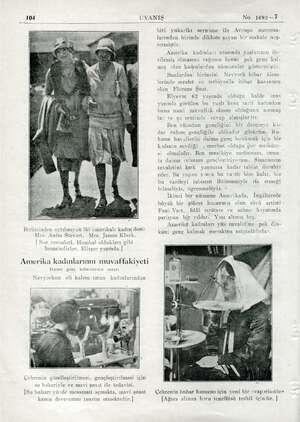 3irbirinden ayrılmıyan iki amerikalı kadın dost: Mrs. Anita Stevart, Mrs. James Klark. | Amerika kadınlarının muvaffakiyeti