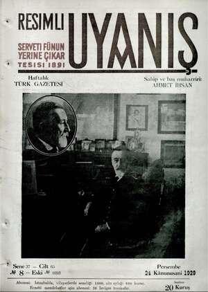 Servetifunun (Uyanış) Dergisi 24 Ocak 1929 kapağı
