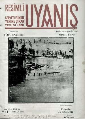 Servetifunun (Uyanış) Dergisi 14 Şubat 1929 kapağı