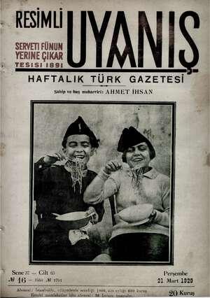 Servetifunun (Uyanış) Dergisi 21 Mart 1929 kapağı