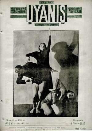 Servetifunun (Uyanış) Dergisi 4 Nisan 1929 kapağı