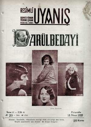 Servetifunun (Uyanış) Dergisi 18 Nisan 1929 kapağı