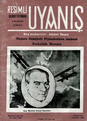 Servetifunun (Uyanış) Dergisi 16 Mayıs 1929 kapağı