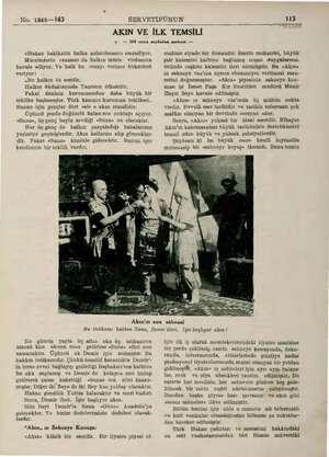 No. 1948—163 SERVETİFÜNUN İl 13 AKIN VE İLK TEMSİLİ & — 109 uncu sayfadan mabant — «Hakan hakikatin halka anlatılmasını...
