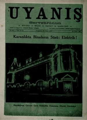 """Servetifünun 8 # SIYASA x BİLGİ Xx SANAT GAZETEM Yazı işleri genel izaha 5 """"Yıl 46 — Cilt 79/15 i Perşembe 23 Nisan 1936..."""