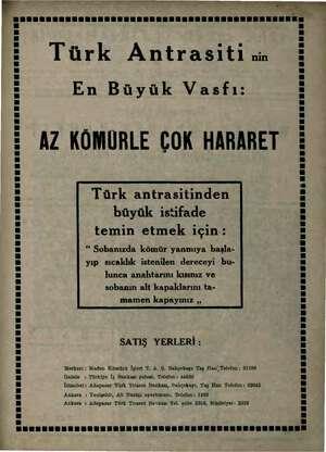 """> > b önel a. m w aga """" e SEREN ENESENESEŞ Türk Antrasiti nm En Büyük Vasfı: us AZ KÖMÜRLE ÇOK HARARET Türk antrasitinden..."""
