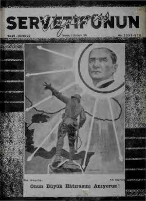 "inciteşrin 1939 . & No.2955-570:"" 5) iie İN Na dei Lili. İnal ke R İY ei ir. e. Y149 -Cilt 86-22 Perşambe, 9 Ik UY e NY..."