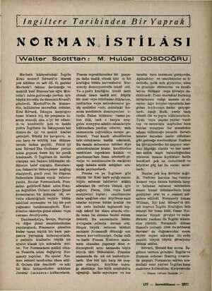 İ /ngiltere Tarihinden Bir Yaprak | NORMAN. İSTİLASI | Walter Scotttan: M. Hulüsi DOSDOĞRU | Macbeth hikâyesindeki İngiliz