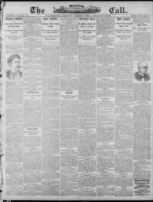 The Morning Call (San Francisco) Gazetesi 2 Nisan 1890 kapağı