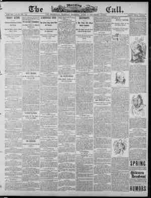 The Morning Call (San Francisco) Gazetesi 8 Nisan 1890 kapağı
