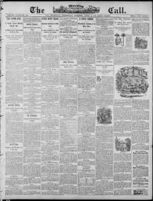 The Morning Call (San Francisco) Gazetesi April 9, 1890 kapağı