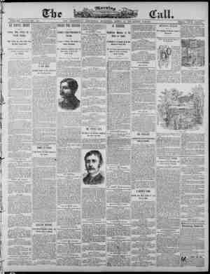 The Morning Call (San Francisco) Gazetesi 10 Nisan 1890 kapağı