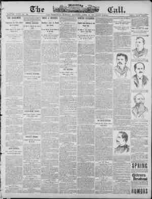 The Morning Call (San Francisco) Gazetesi 15 Nisan 1890 kapağı