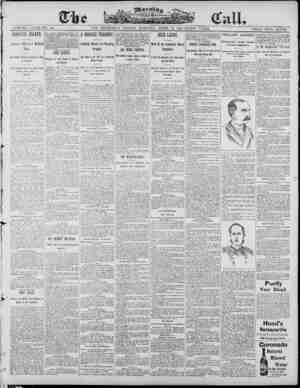 The Morning Call (San Francisco) Gazetesi 18 Nisan 1890 kapağı