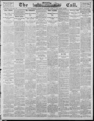 The Morning Call (San Francisco) Gazetesi 19 Nisan 1890 kapağı