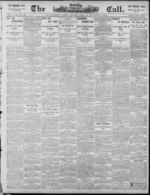 The Morning Call (San Francisco) Gazetesi 20 Nisan 1890 kapağı