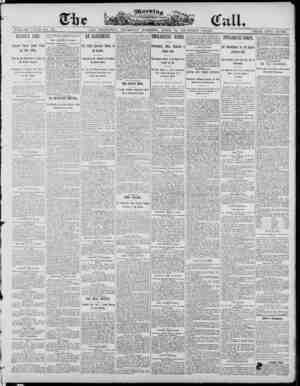 The Morning Call (San Francisco) Gazetesi 24 Nisan 1890 kapağı