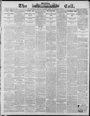 The Morning Call (San Francisco) Gazetesi 28 Nisan 1890 kapağı