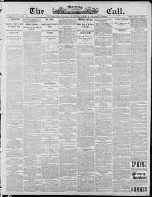 The Morning Call (San Francisco) Gazetesi 29 Nisan 1890 kapağı