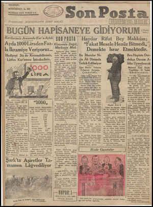 Son Posta Gazetesi 27 Temmuz 1930 kapağı
